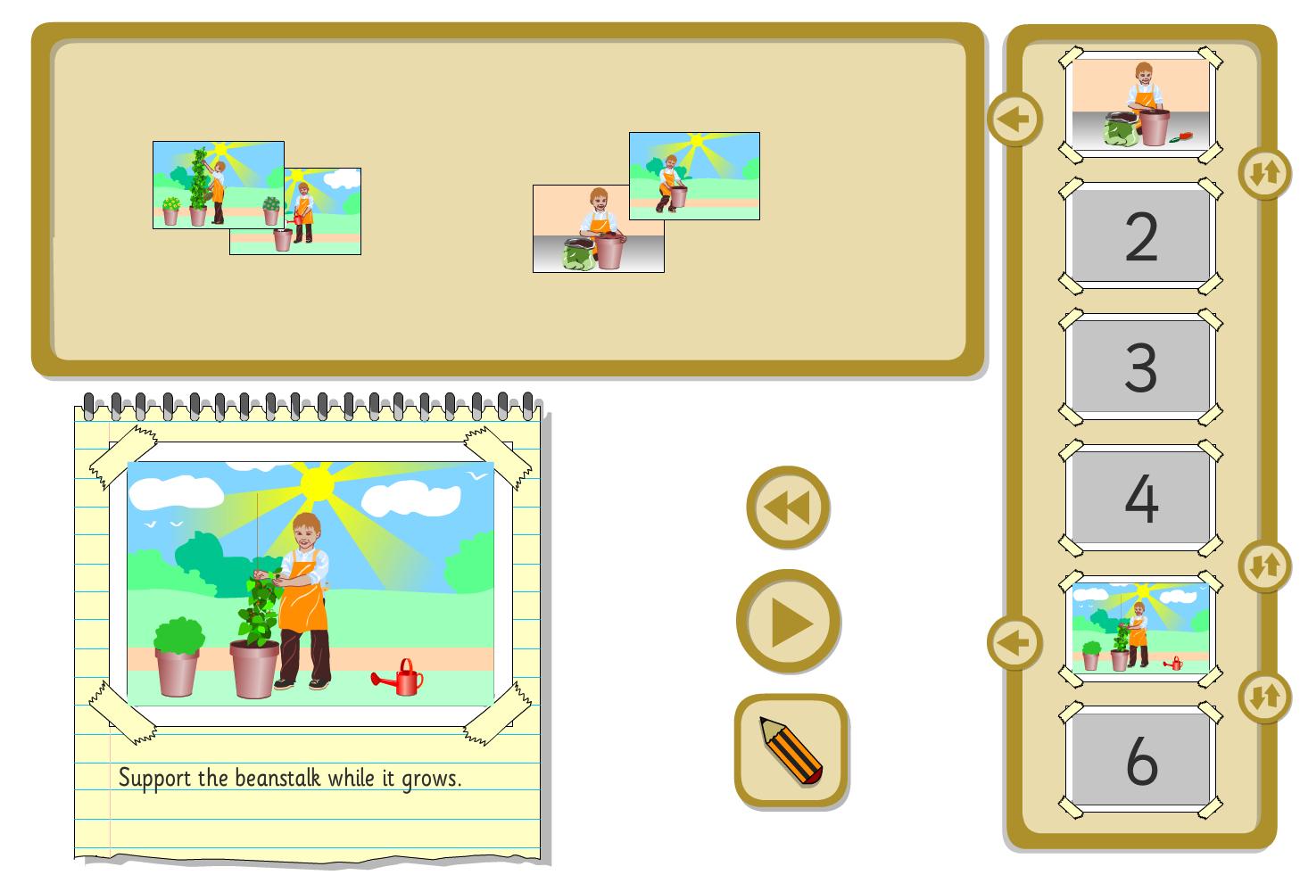 Interactive Sequencer - Growing a Bean - KS1 Literacy