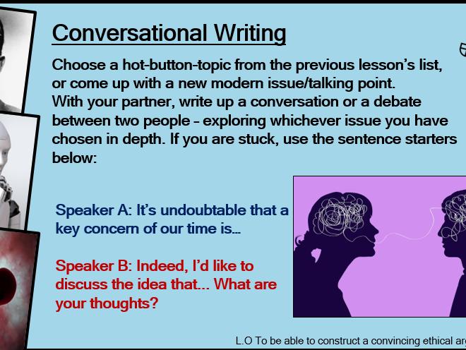 Conversational Writing Lesson