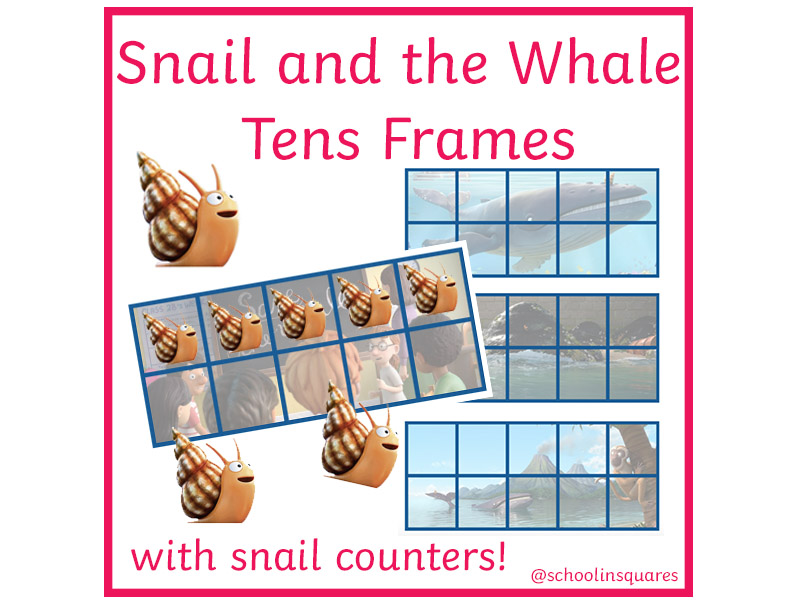 KS1/EYFS The Snail and the Whale Tens Frames