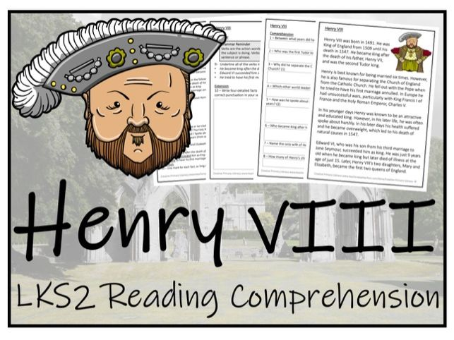 LKS2 History - Henry VIII Reading Comprehension Activity