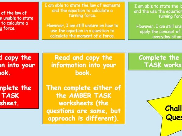Turning Forces Differentiated Lesson and Tasks