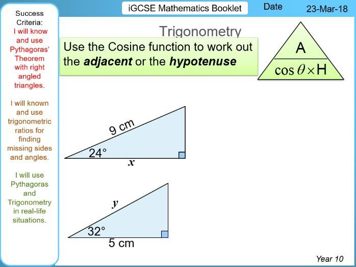 iGCSE Booklet - Fundamental Pythagoras & Trigonometry