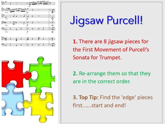 Purcell's Sonata for Trumpet and Strings 1st mvt - Jigsaw Purcell!