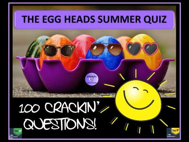 Quiz: The Egg Heads Summer Quiz