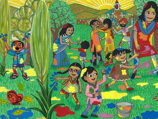 Holi - festival of colours - Festival of love - History - Story - Description + 2 Kid Reading Books