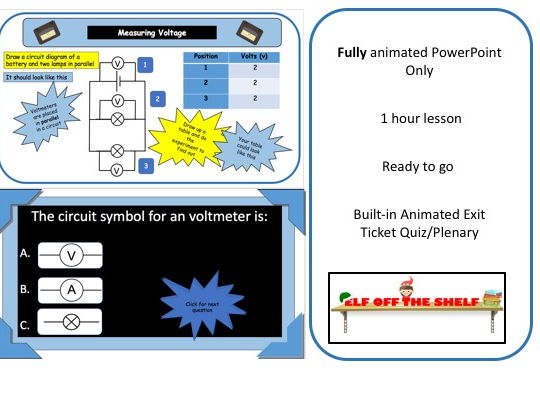 Electricity - Measuring Voltage KS3 - Animated PowerPoint
