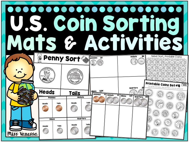 US Coin Sorting Mats And Activities