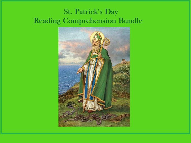 St. Patrick's Day - Reading Comprehension Worksheets Bundle (x3)