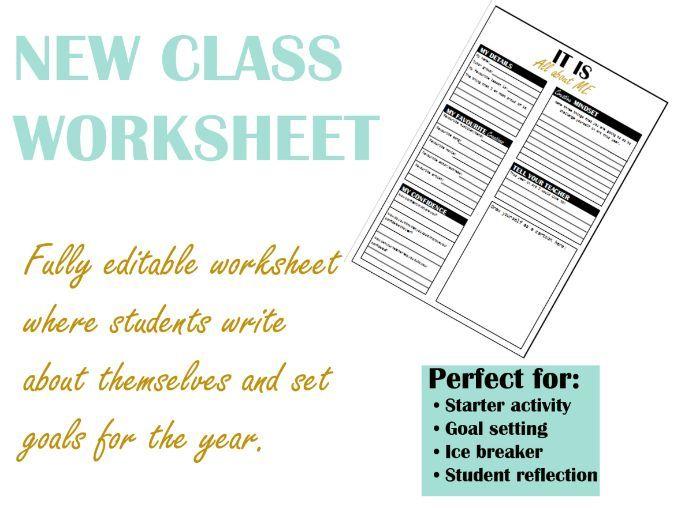 New Class Worksheet