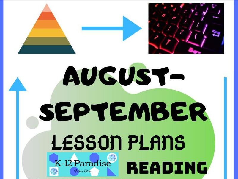 General Education, Self-Contained or Inclusion AUGUST-SEPTEMBER LESSON PLANS ALL 5 SUBJECTS