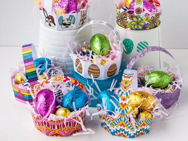 DIY Easter Egg Basket Templates (Set of 8)