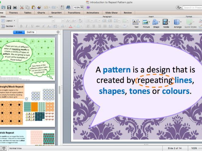 Intro to Repeat Pattern - Art or Textiles
