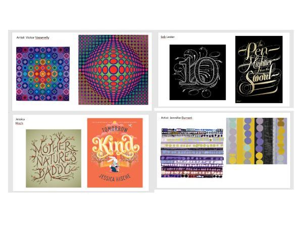 Graphic designers and Abstract Artists resource images
