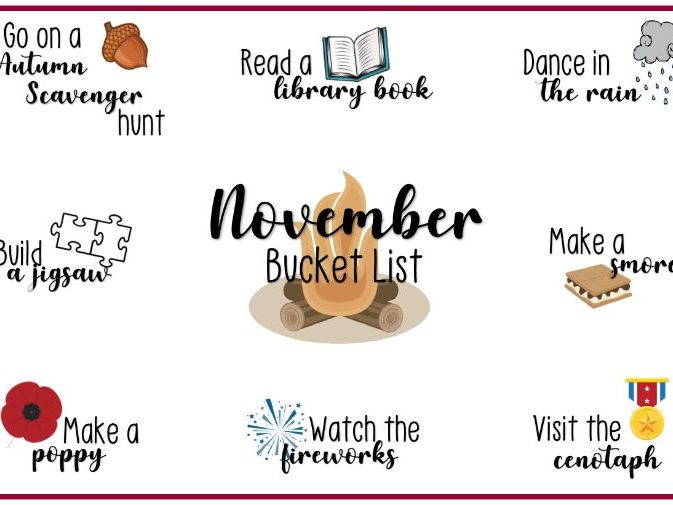 Monthly Bucket Lists of Childhood Experiences
