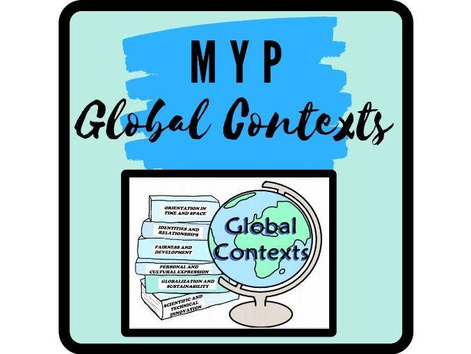 IB MYP Global Contexts Classroom Display
