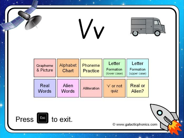 The letter 'v' PowerPoint (Phase 3)
