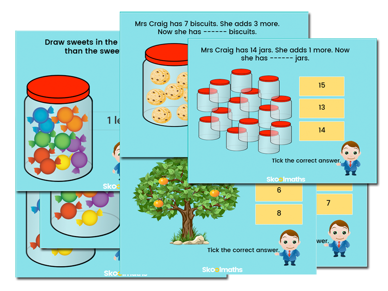 Free Year 1 comparing numbers activity cards