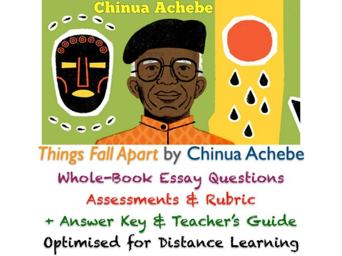 Things Fall Apart (Achebe) - After Reading Essay Assessment + RUBRIC + ANSWERS