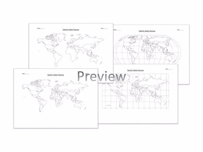 Geography: Identify the position and significance  of Global Features