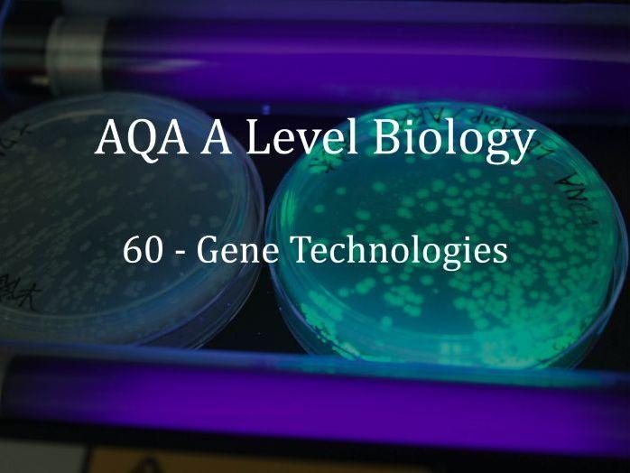 AQA A Level Biology Lecture 60 - Gene Technologies