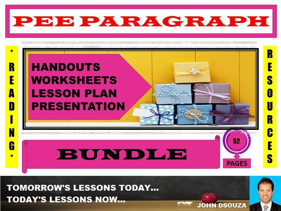 PEE PARAGRAPH WRITING BUNDLE