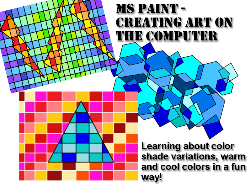 MS Paint lesson - Creating shapes with color variations