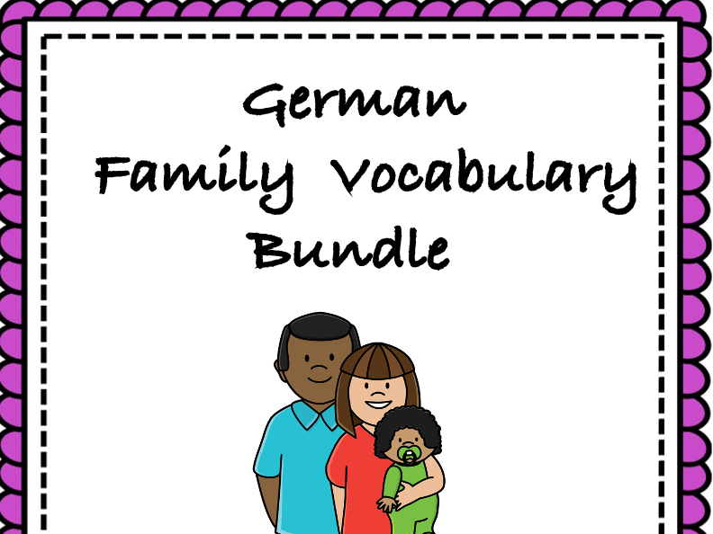 German Family Bundle: Die Familie: TOP 4 Resources at 30% off!