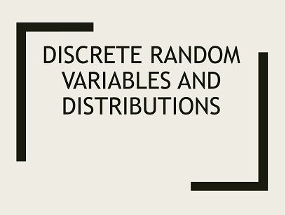 Discrete random variables and expected values.