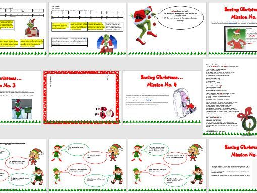 Year 3 and 4 Christmas Booklet Maths and English Grammar and Comprehension