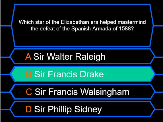 Millionaire Quiz! (Tudor Edition)