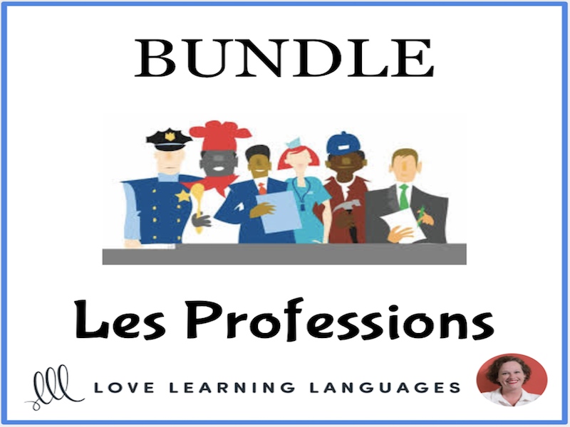 Les Professions - Bundled French Resources