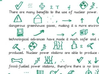 Argument for nuclear power Talk 4 Writing picture map