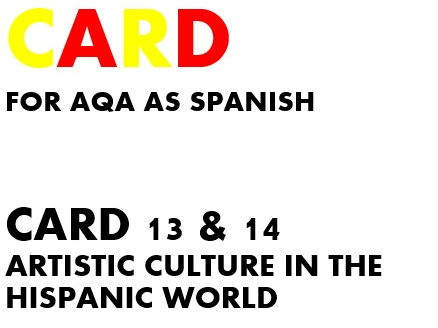 SPEAKING CARDS 13 & 14 for AQA A-LEVEL SPANISH (new specification)