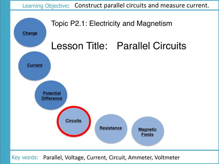Electricity and Magnetism: L5 Parallel Circuits