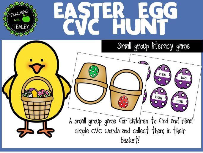 CVC Word Game - Easter Egg Hunt