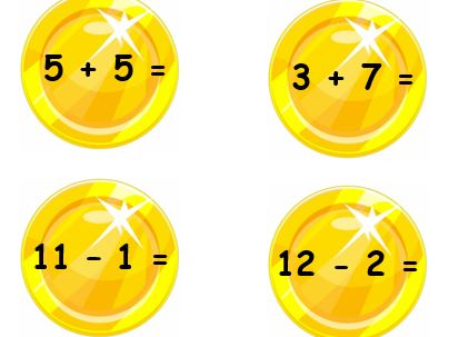 Adding and Subtracting to 20 coins