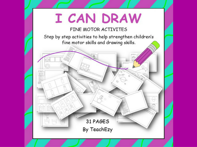 I Can Draw Fine Motor Activities