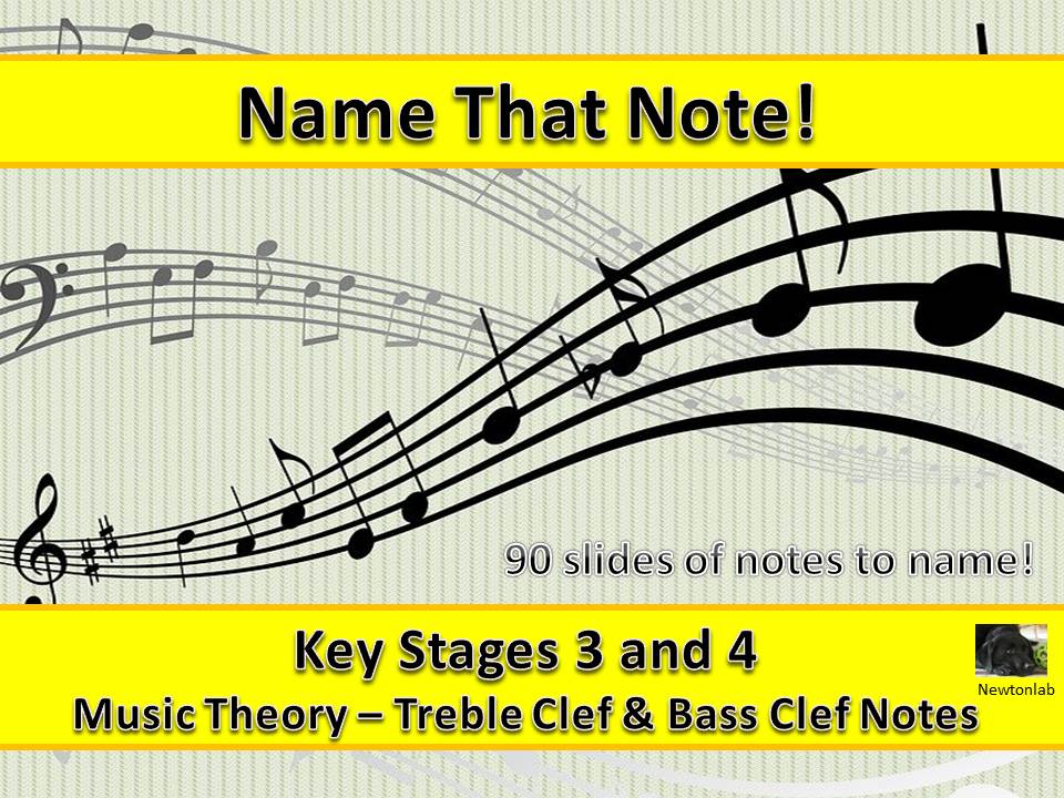 Name That Note! - Treble Clef and Bass Clef - Key Stages 3 and 4