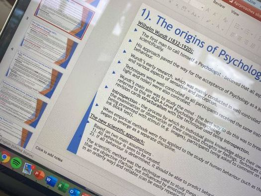 AQA A-Level Psychology - Approaches revision PowerPoint
