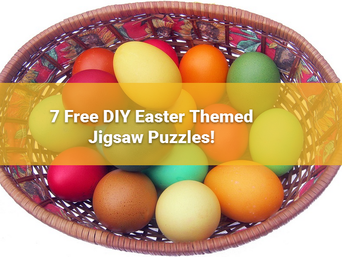 Easter Themed FREE  Jigsaw activity Print,  Colour in, Glue to Card, Cut out:  Add Children
