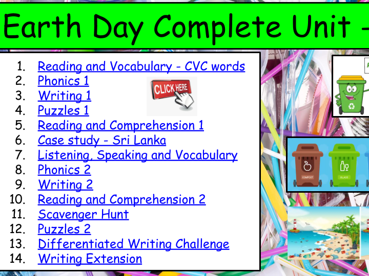 Earth Day Complete Unit KS1- 90 Activities