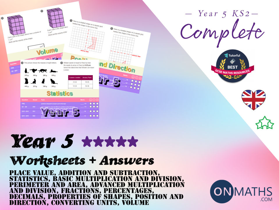 Complete Year 5 Worksheet and Answers Pack (Key Stage 2)