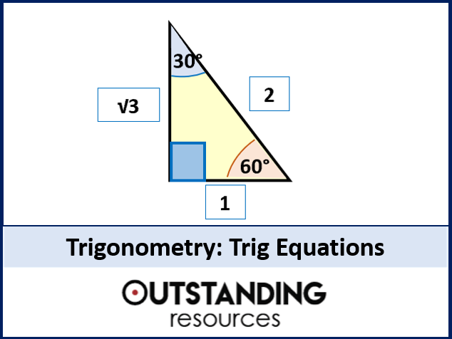 Trigonometry 11 Trig Equations Introduction Worksheet By