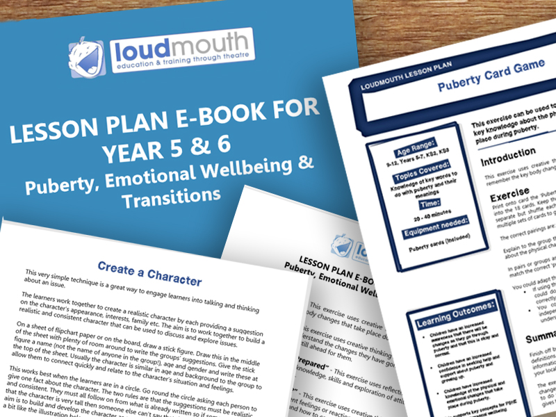 Puberty E Book  - 10 Lesson Plans on Puberty, Emotional Wellbeing and Transition to Secondary School