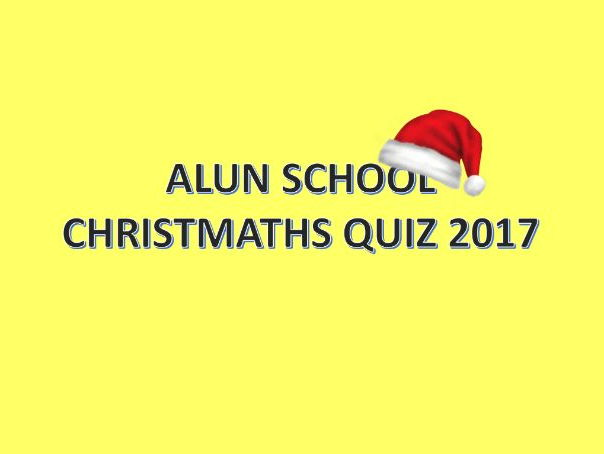 Christmas quiz with a bit of maths 2017
