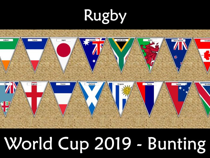 Rugby World Cup 2019 Bunting