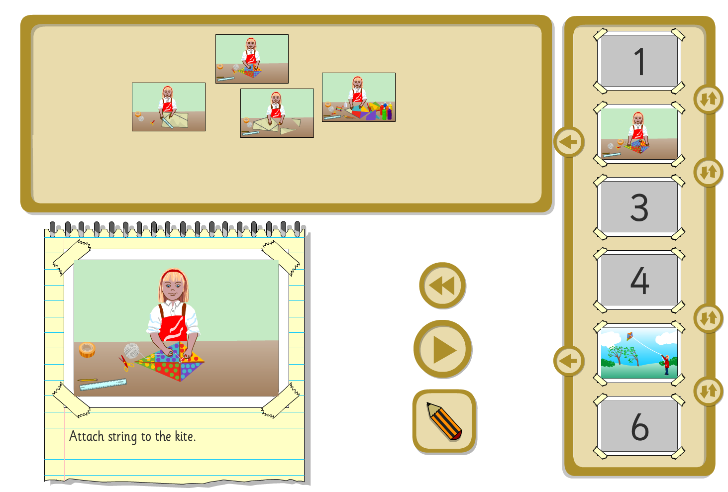 Interactive Sequencer - Making a Kite - KS1 Literacy