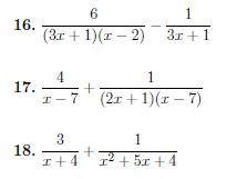 Algebraic fractions Bundle