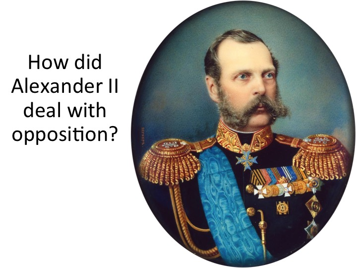 How did Alexander II deal with opposition? A-Level Lecture with tasks for Edexcel OCR AQA