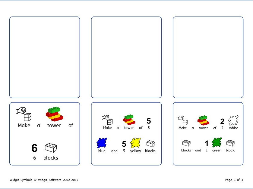 Lego Tasks & Communication Board